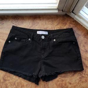 NoBo Black Frill Jean Shorts